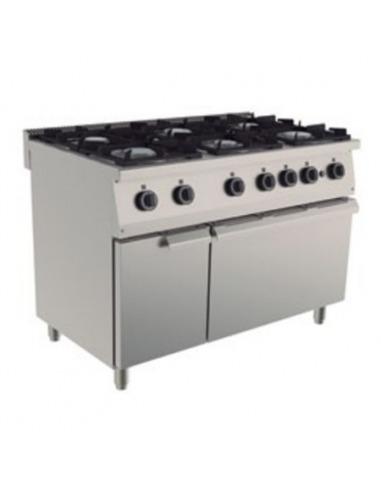 Cocina industrial 6 fuegos for Cocinas economicas a gas