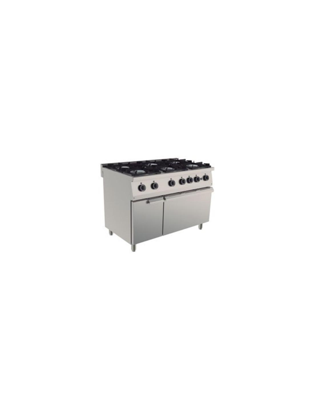 cocina industrial 6 fuegos