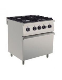 Cocina  ECONÓMICA 4 fuegos con horno