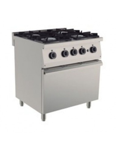 Cocina industrial 4 fuegos for Cocinas economicas a gas
