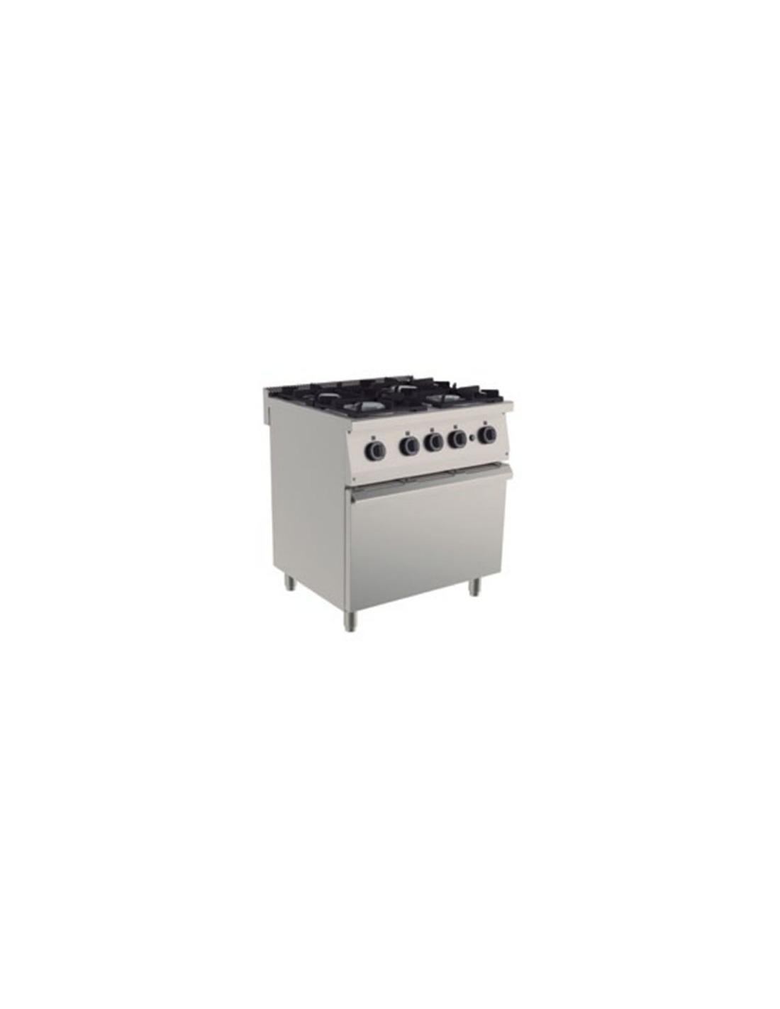 Cocina industrial 4 fuegos for Cocina 4 fuegos con horno a gas