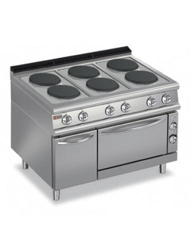 Cocina industrial el ctrica con horno for Cocina industrial electrica