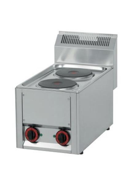 Cocina industrial eléctrica 2 placas