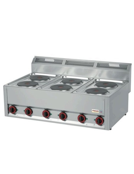 Cocina eléctrica 6 placas