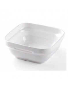 Fuente cuadrada en policarbonato blanco