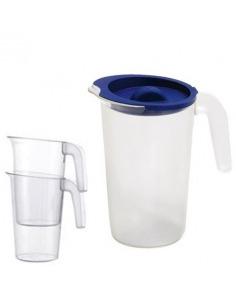 Jarra 1 litro en policarbonato transparente
