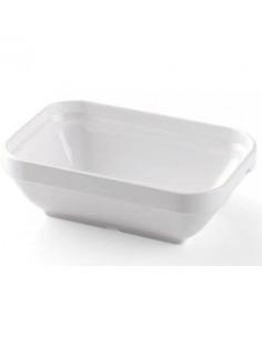 Fuente rectangular en policarbonato blanco