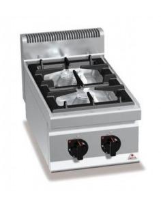 Cocina a gas 2 fuegos con base o sin ella