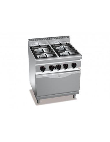 Cocina 4 fuegos a gas con horno convecci n for Cocina 4 fuegos industrial