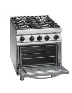 Cocina 4 fuegos con horno GN2/1