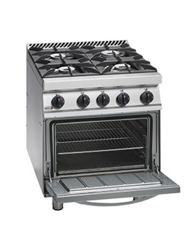 Cocina industrial 4 fuegos con horno fagor for Hornos de cocina