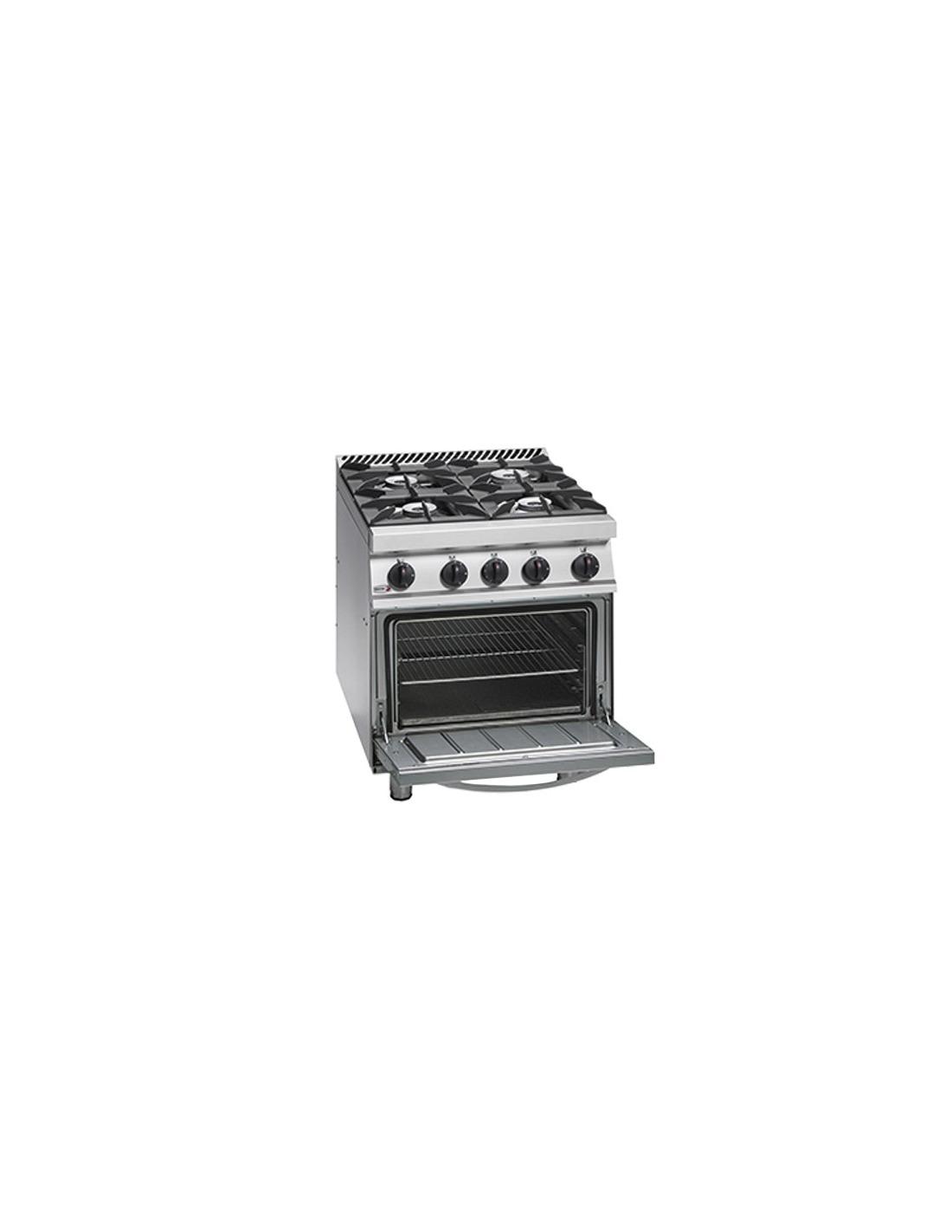 Cocina industrial 4 fuegos con horno fagor for Cocina 4 fuegos con horno a gas