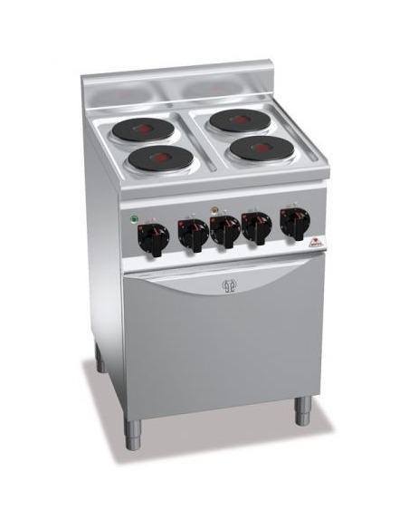 Cocina eléctrica con horno ventilado