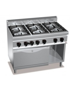 Cocina 6 fuegos con horno