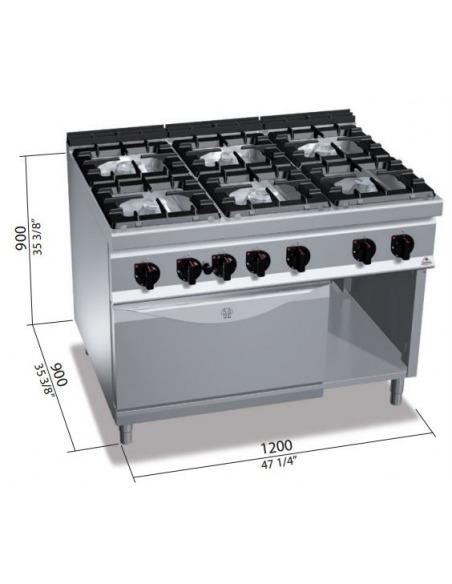 Bertou0027s   Cocina 6 Fuegos Con Horno ...