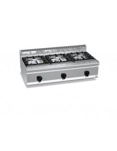 Berto's - Cocina industrial 3 fuegos alta potencia