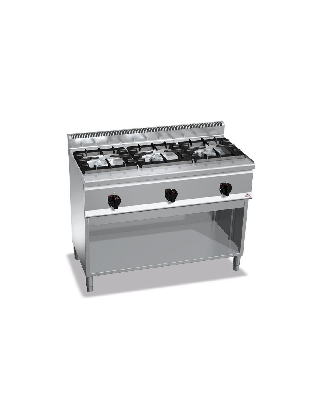 cocina industrial de 3 fuegos restaurante
