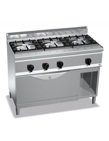 Cocina industrial de 3 fuegos restaurante con horno for Presupuesto cocina industrial