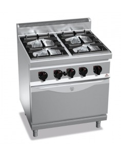 Berto's - Cocina gas 4 fuegos con horno