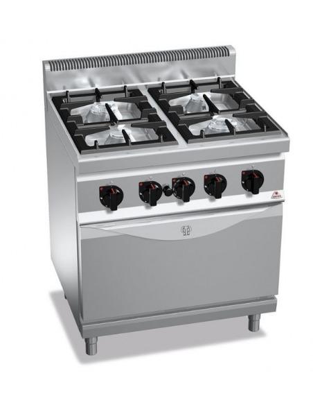 Berto's - Cocina gas 4 fuegos con horno pastelería