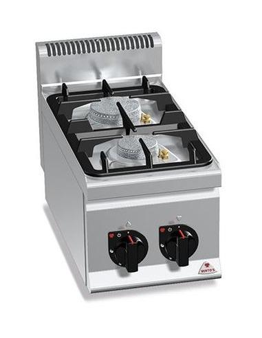 Cocina industrial a gas 2 quemadores sobremesa for Presupuesto cocina industrial