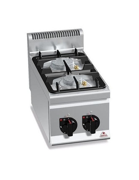 Berto's - Cocina industrial 2 fuegos sobremesa