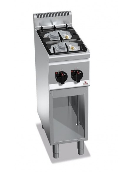 Berto's - Cocina industrial 2 fuegos con base