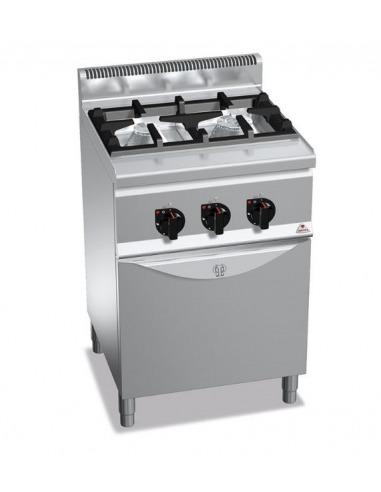 Cocina industrial de 2 fuegos restaurante con horno for Cocina 4 fuegos industrial