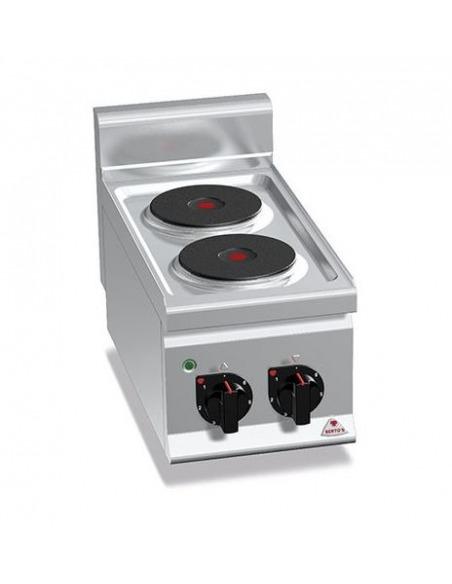 Berto's - Cocina eléctrica 2 placas redondas