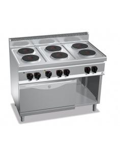 Berto's -  Cocina eléctrica 6 placas redondas + horno GN1/1