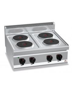 Berto's - Cocina industrial eléctrica 4 placas