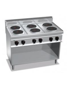 Berto's - Cocina industrial eléctrica 6 placas