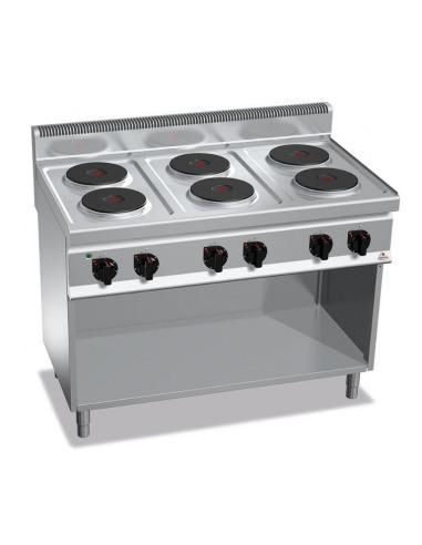 Cocina industrial electrica sobre base 6 fuegos for Cocina 6 fuegos industrial