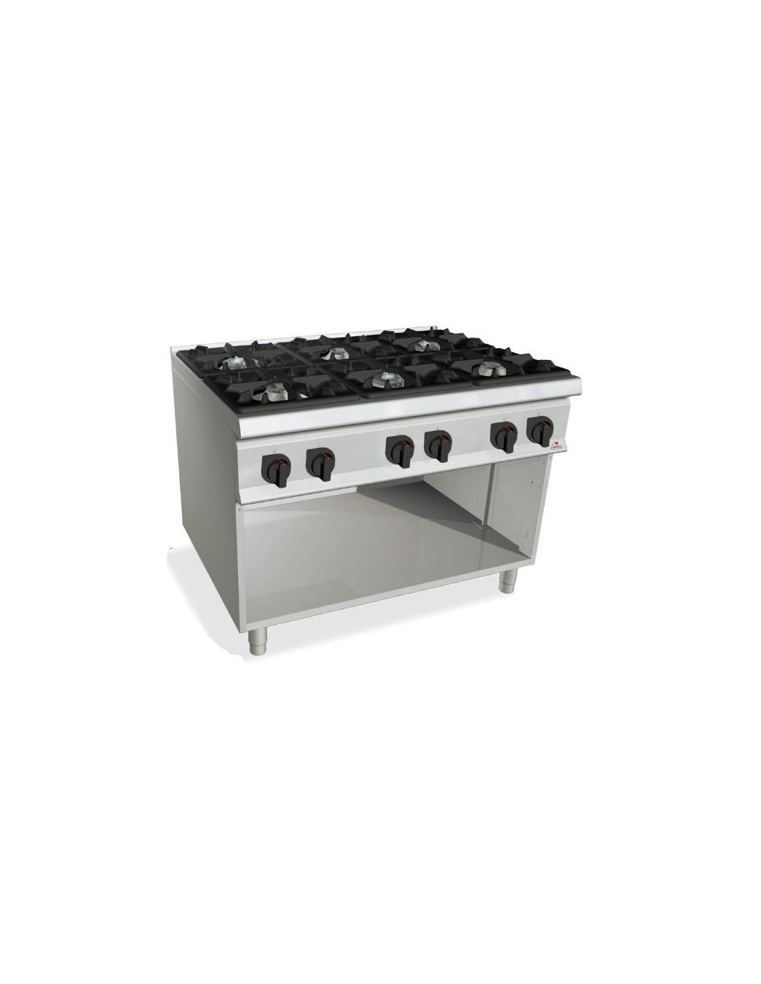 Cocina industrial gas 6 fuegos para hosteleria for Accesorios de cocina industrial