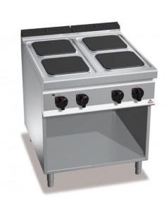 Cocina eléctrica 4 fuegos sobre base abierta