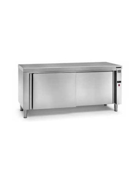 Mesa caliente de puertas correderas