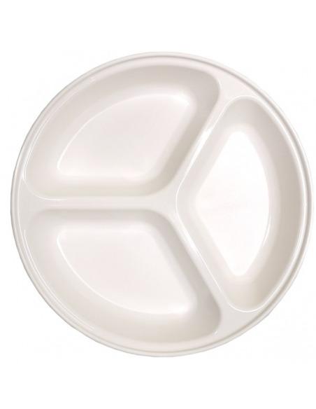 Plato 3 compartimentos color blanco