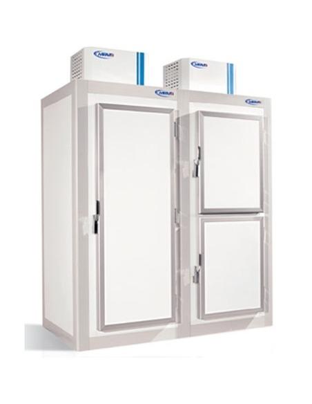 Armario gran capacidad mixto refrigeración/congelación modular de panel sandwich