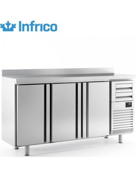 Frente mostrador refrigerado 3 puertas fondo 600