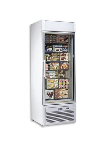Armario congelación 400 litros puerta cristal