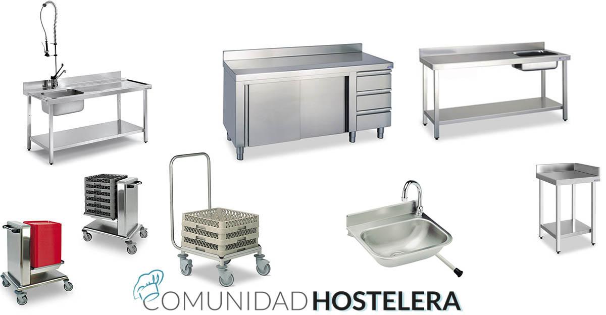 Muebles cocina acero inoxidable finest muebles acero inox for Lavatorio cocina